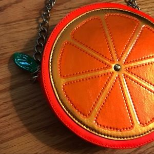 Betsey Johnson Orange Crossbody